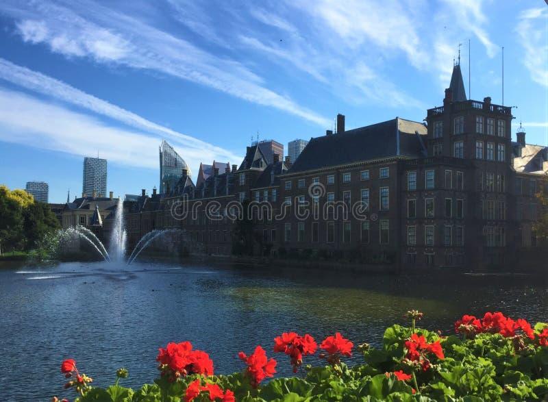 Palácio de Binnenhof em Haia foto de stock royalty free