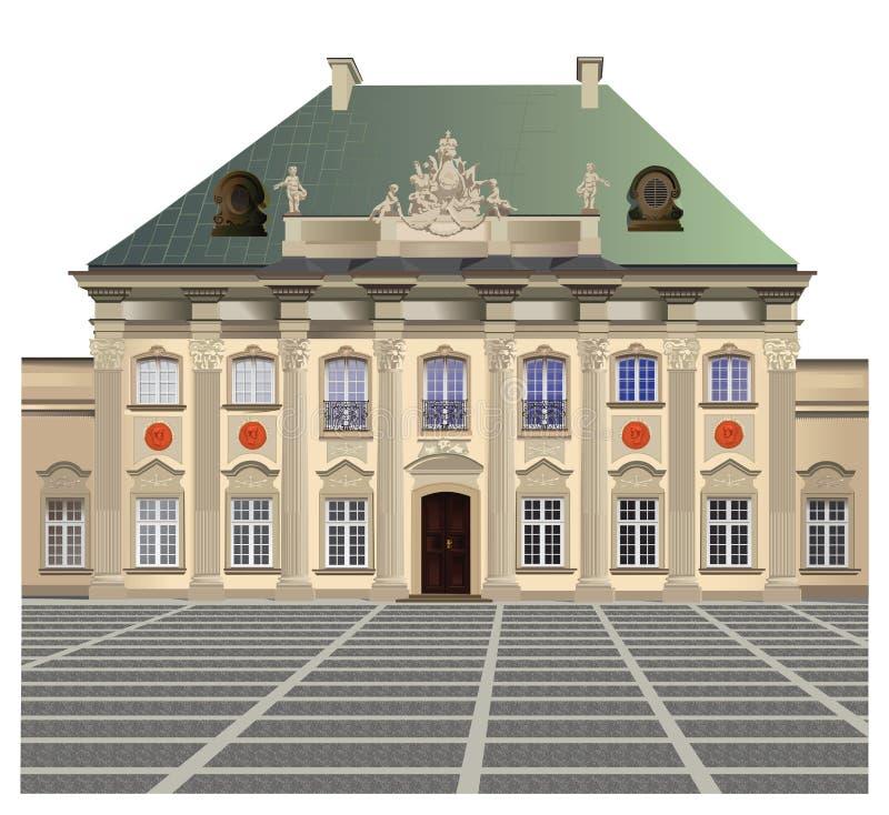 Palácio de Blacha do vagem ilustração stock