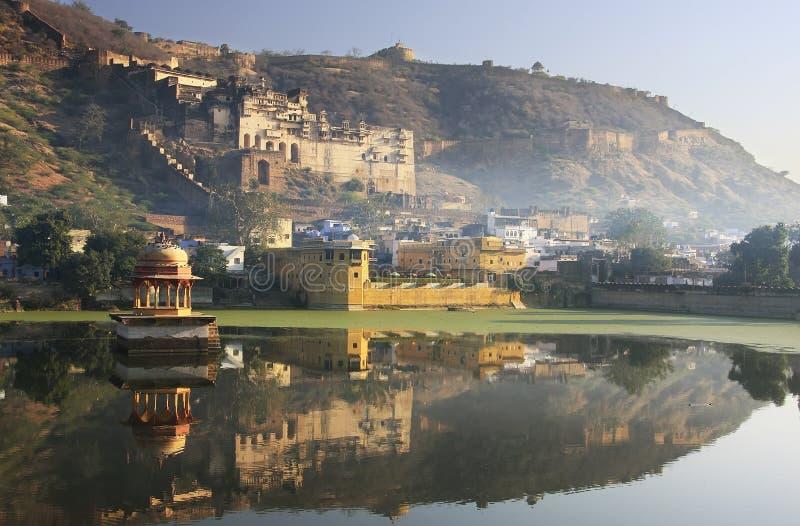 Palácio de Bundi, Índia imagens de stock
