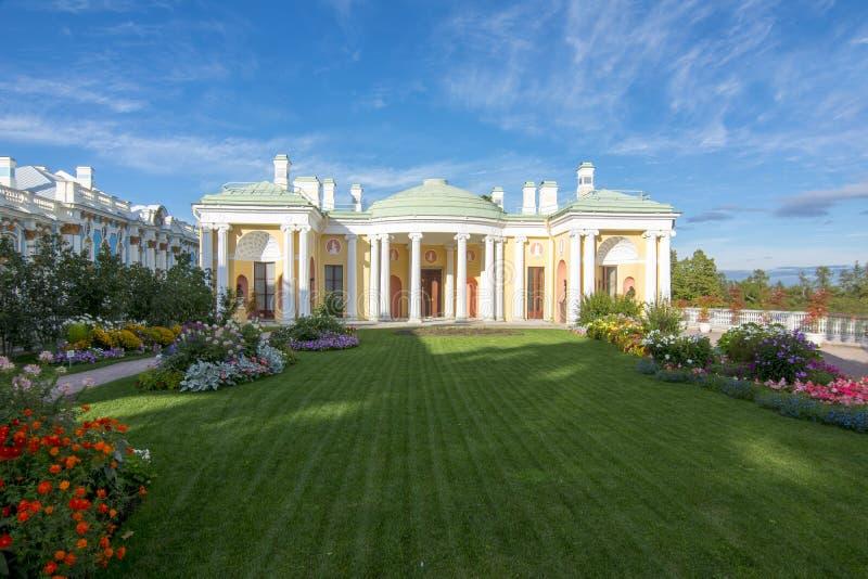 Palácio de Catherine e parque, Tsarskoe Selo, Pushkin, St Petersburg, Rússia fotos de stock royalty free