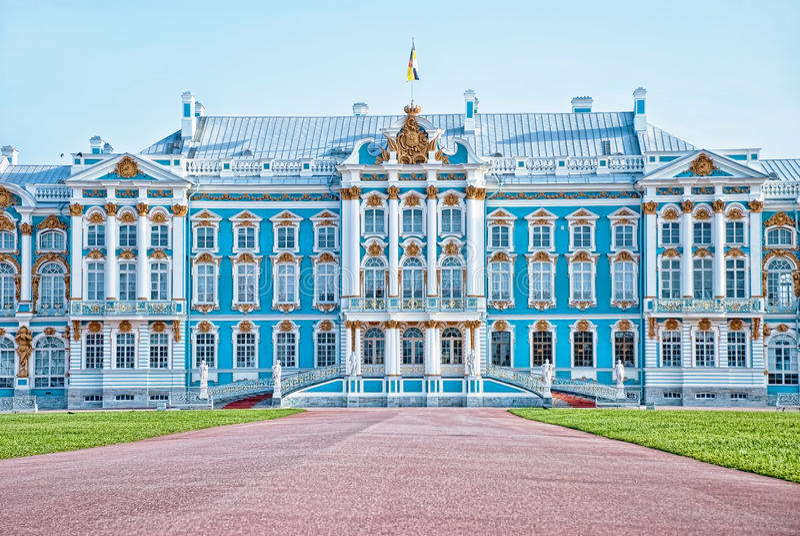 Palácio de Catherine em Pushkin, Rússia fotografia de stock royalty free