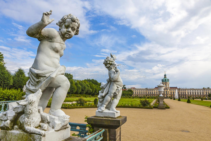 Palácio de Charlottenburg em Berlim, Alemanha foto de stock royalty free