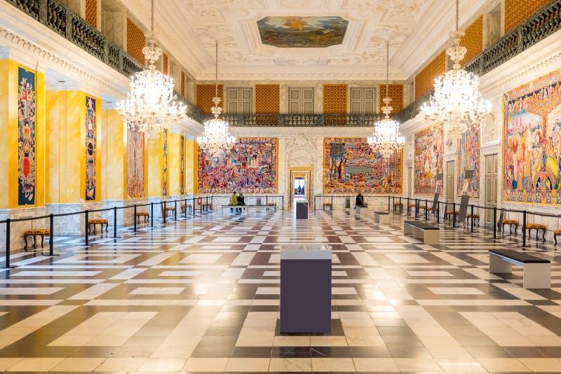 Palácio de Christiansborg do parlamento fotos de stock