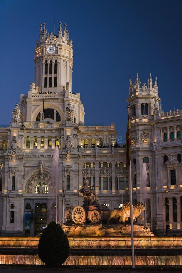 Palácio de Cibeles na Espanha do Madri imagens de stock royalty free