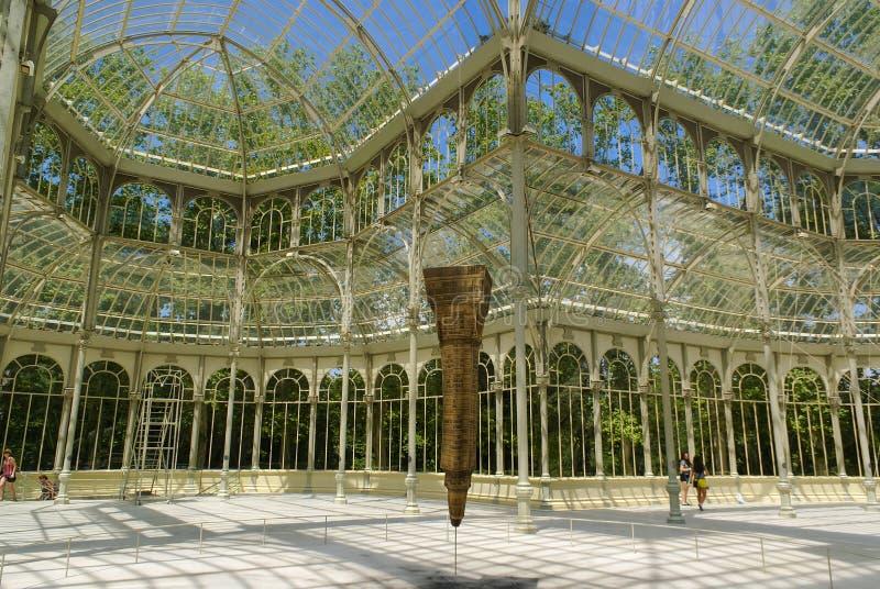 Palácio de cristal em Madrid foto de stock royalty free