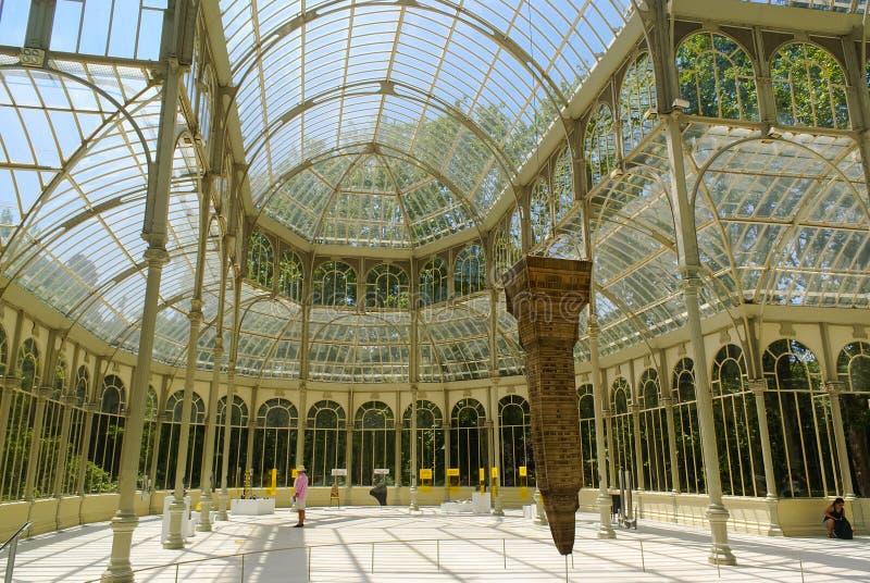 Palácio de cristal em Madrid imagens de stock royalty free