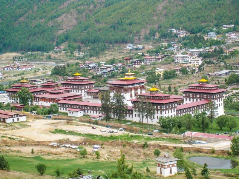 Palácio de Dechencholing - Thimphu, Butão foto de stock royalty free
