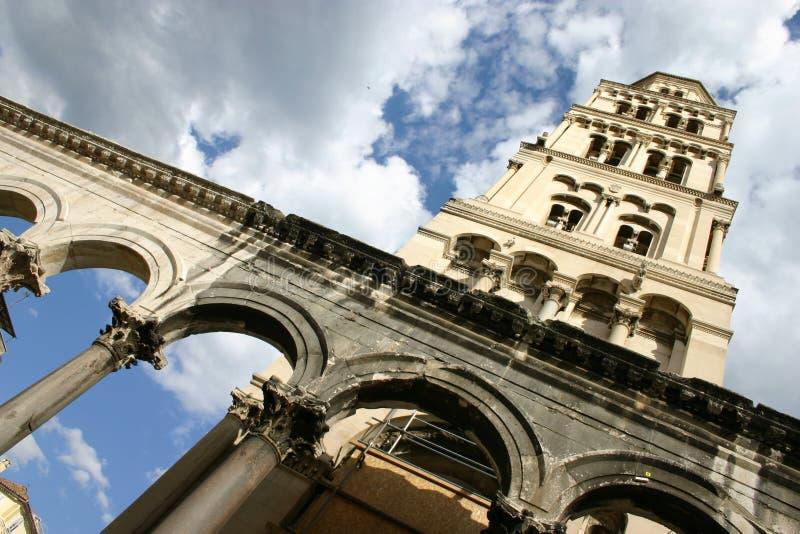 Palácio de Diocletian no Split no croata fotografia de stock royalty free