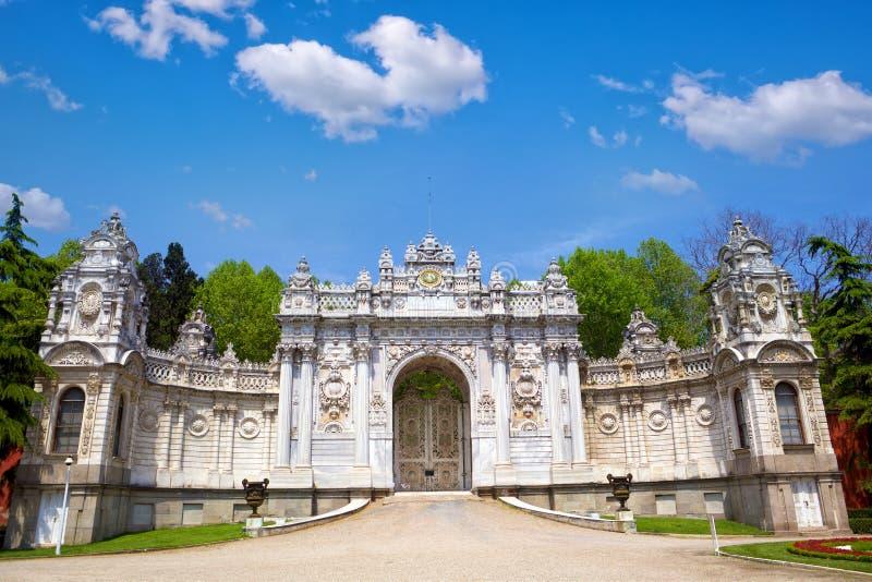 Palácio de Dolmabahce em Istambul imagens de stock royalty free