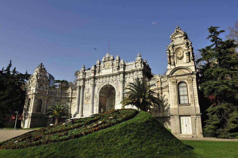 Palácio de Dolmabahce, Istambul, Turquia fotos de stock royalty free