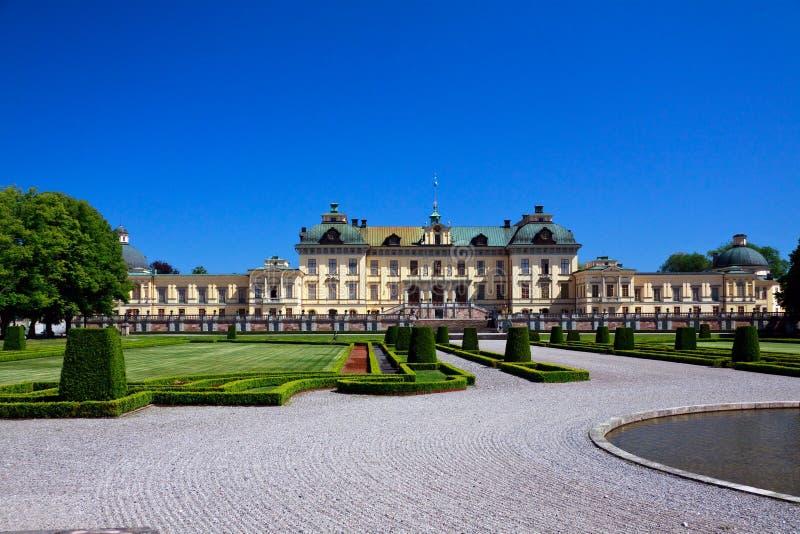 Palácio de Drottningholm em Éstocolmo imagem de stock royalty free