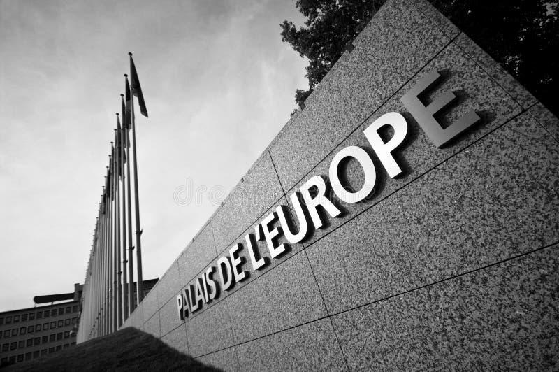 Palácio de Europa em Strasbourg imagem de stock