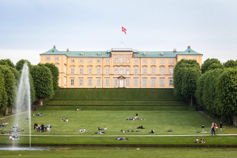 Palácio de Frederiksberg fotografia de stock royalty free