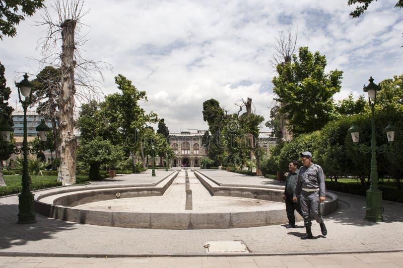 Palácio de Golestan em Tehran fotografia de stock