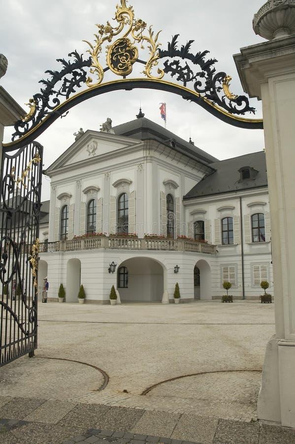 Palácio de Grassalkovich fotos de stock royalty free
