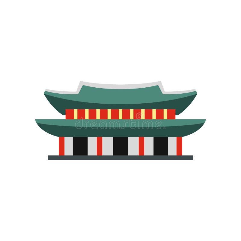 Palácio de Gyeongbokgung ícone em Seoul, Coreia ilustração do vetor
