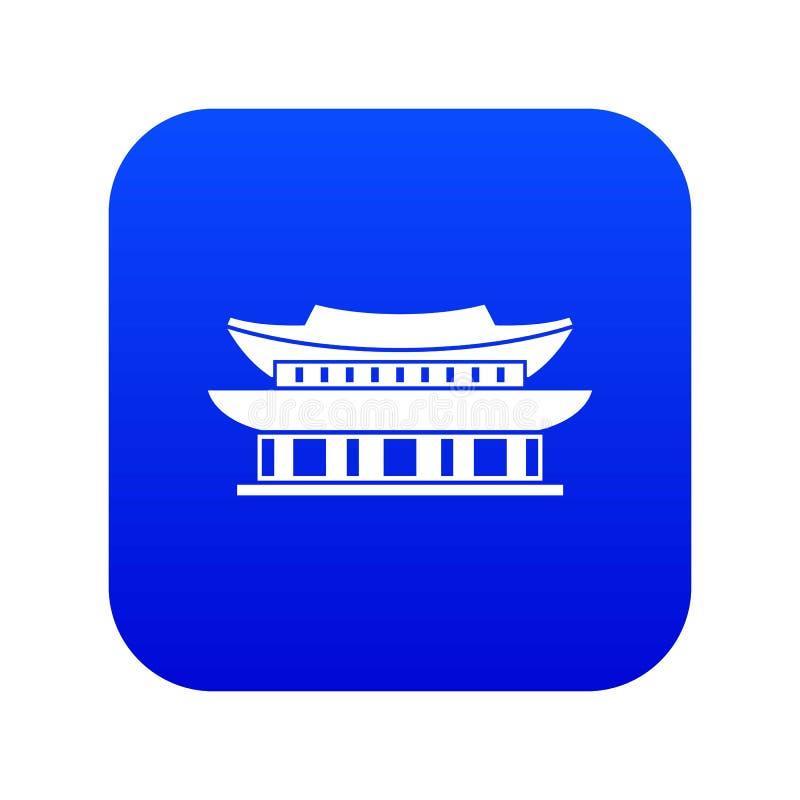 Palácio de Gyeongbokgung, azul digital do ícone de Seoul ilustração stock