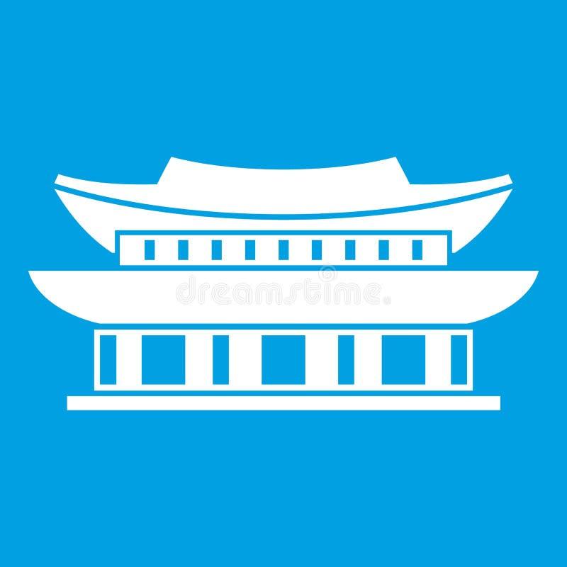 Palácio de Gyeongbokgung, branco do ícone de Seoul ilustração stock