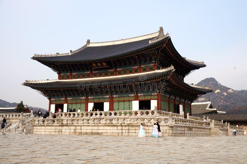 Palácio de Gyeongbokgung em Seoul, Coreia do Sul fotografia de stock