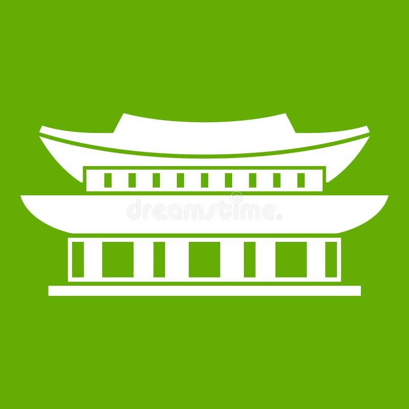 Palácio de Gyeongbokgung, verde do ícone de Seoul ilustração royalty free