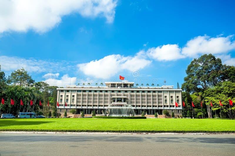 Palácio de Indepedence na cidade de Ho Chi Minh, Vietname imagens de stock