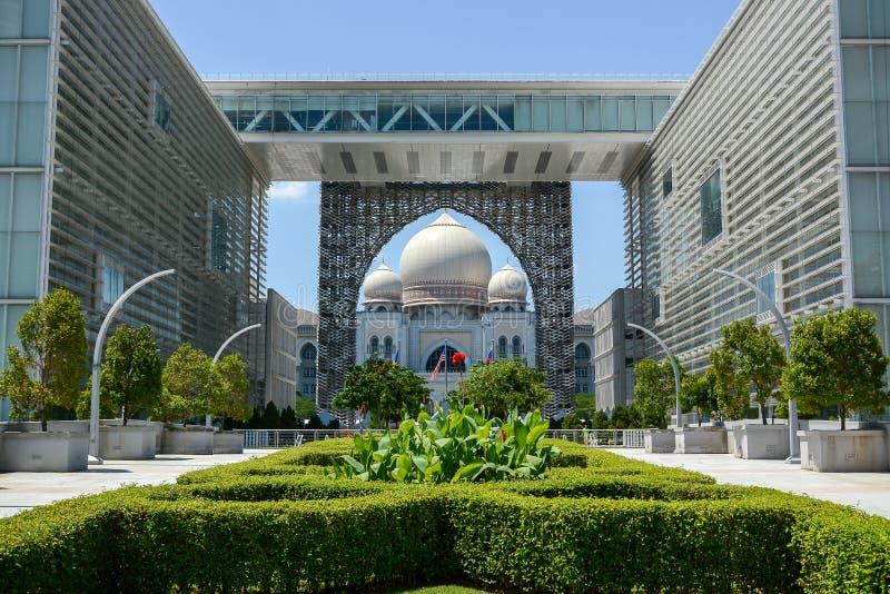 Palácio de justiça, Putrajaya, Malásia foto de stock