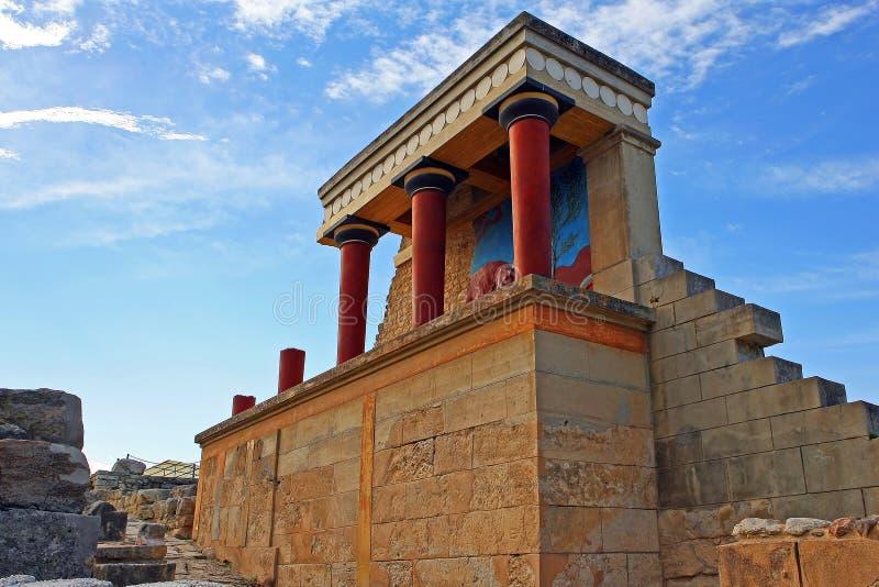 Palácio de Knossos fotografia de stock