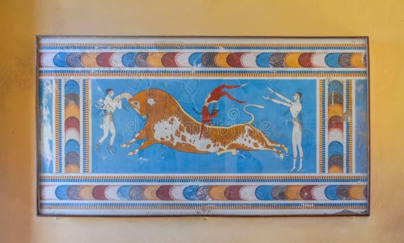 Palácio de Knossos, Creta, Grécia imagem de stock