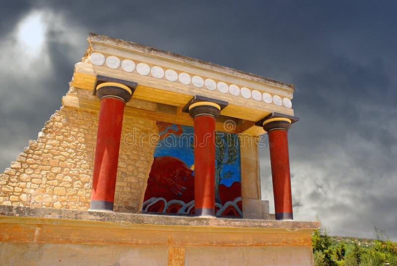 Palácio de Knossos em Crete, Greece fotos de stock