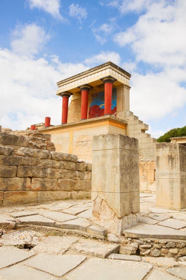 Palácio de Knossos em Crete, Greece fotos de stock royalty free