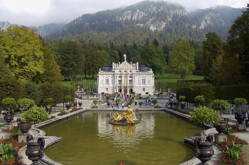 Palácio de Linderhof - Baviera - Alemanha fotografia de stock