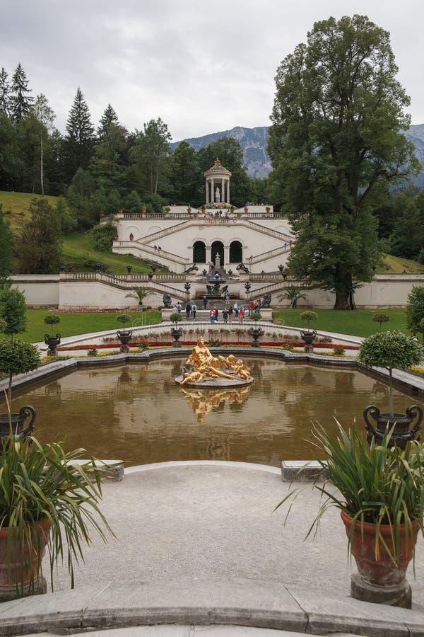 Palácio de Linderhof em Alemanha foto de stock