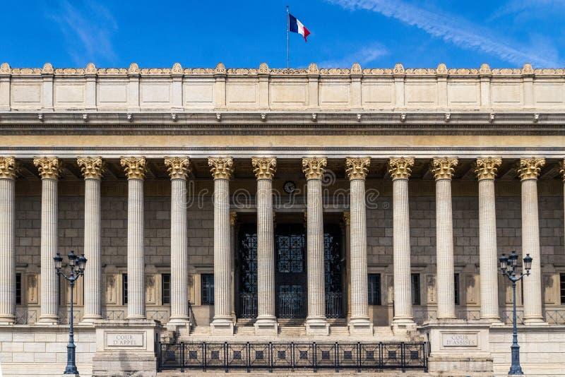 Palácio de Lyon de justiça imagens de stock royalty free