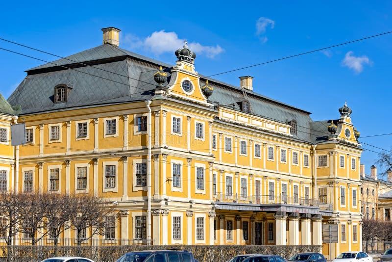 Palácio de Menshikov em Saint-Peterburg, Rússia foto de stock royalty free