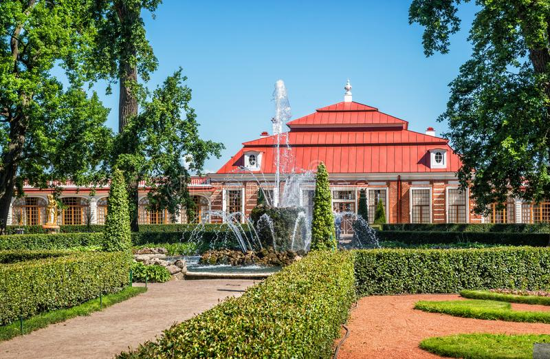 Palácio de Monplaisir foto de stock