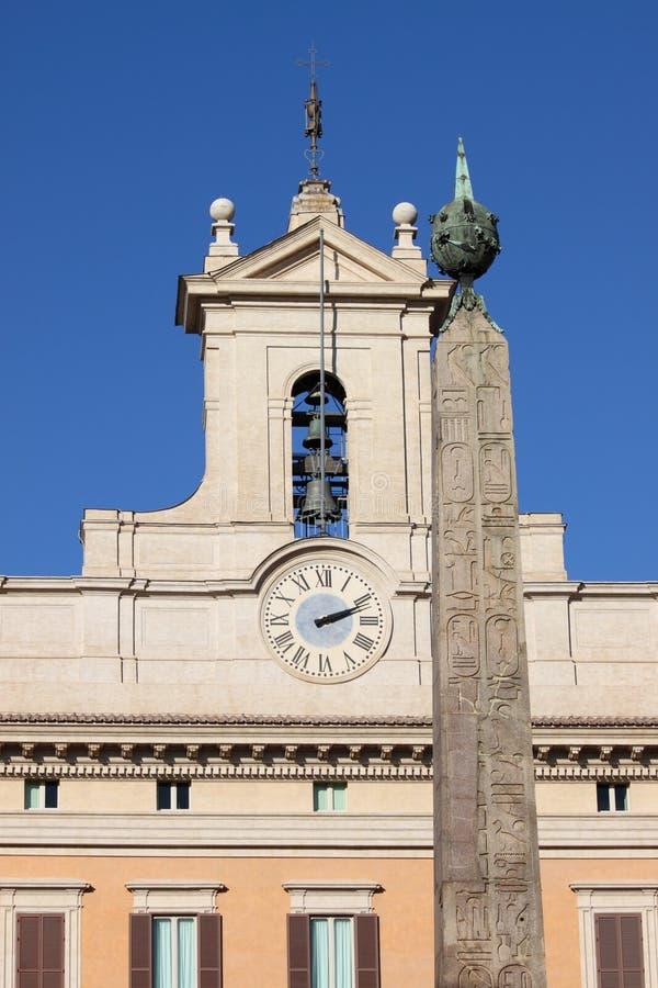 Palácio de Montecitorio em Roma foto de stock royalty free