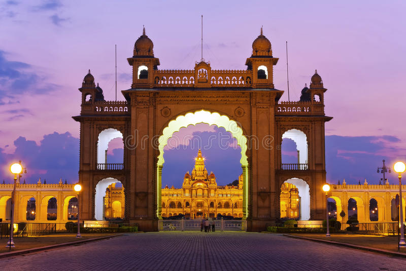 Palácio de Mysore imagens de stock