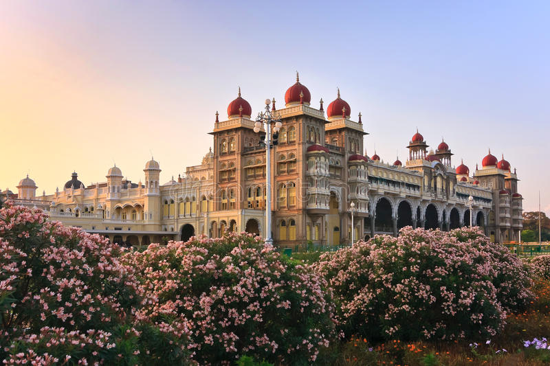 Palácio de Mysore fotos de stock