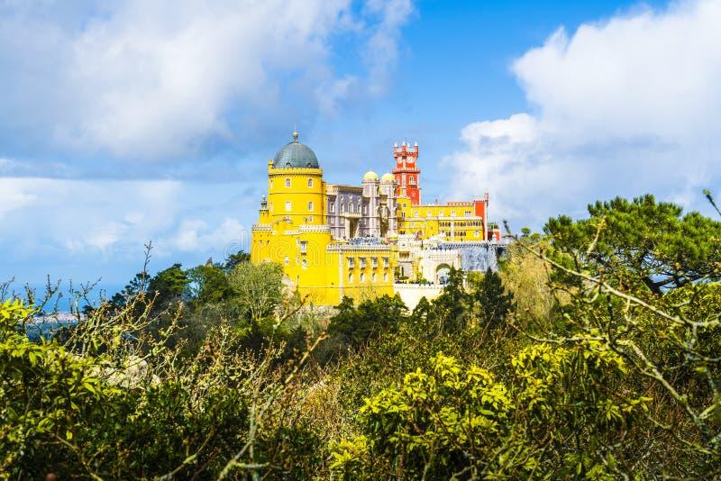 Palácio de Nacional de Pena na região de Sintra de Lisboa fotos de stock
