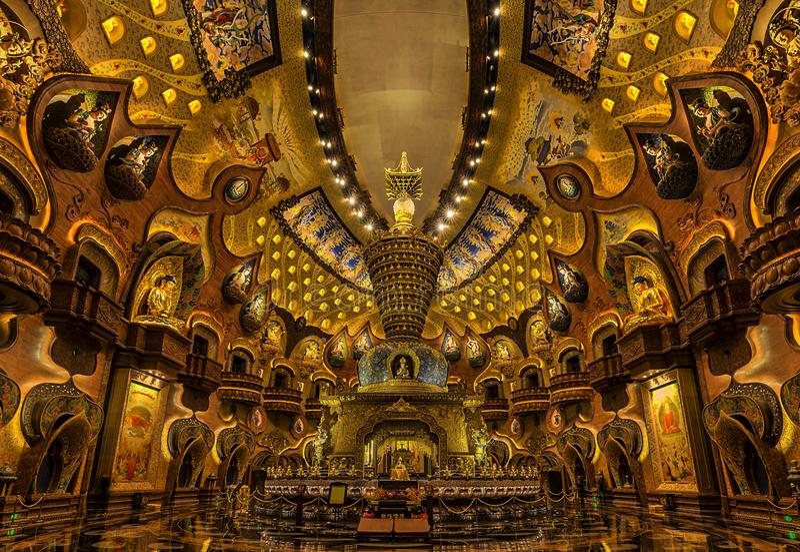 Palácio de Niushoushan Foding fotos de stock royalty free
