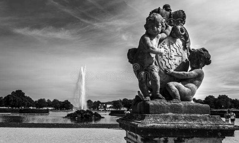 Palácio de Nymphenburg fotos de stock royalty free