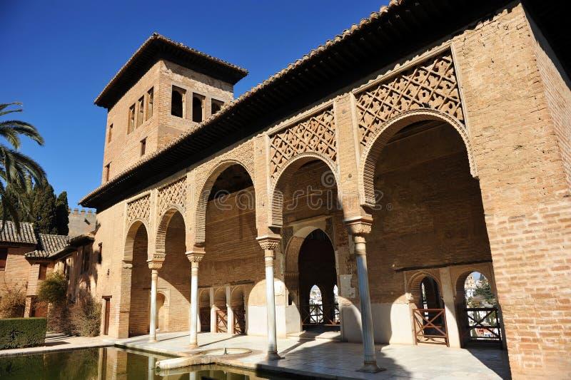 Palácio de Partal, Alhambra em Granada, Espanha fotos de stock royalty free