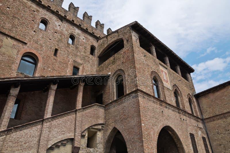 Palácio de Podesta. Castell'Arquato. fotografia de stock