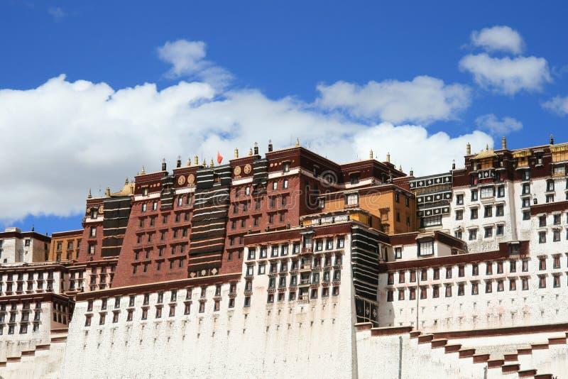 Palácio de Potala de Tibet em Lhasa imagem de stock royalty free