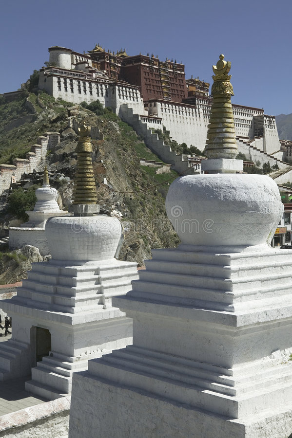 Palácio de Potala em Lhasa imagem de stock