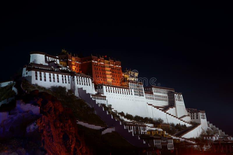 Palácio de Potala em TIBET fotografia de stock royalty free