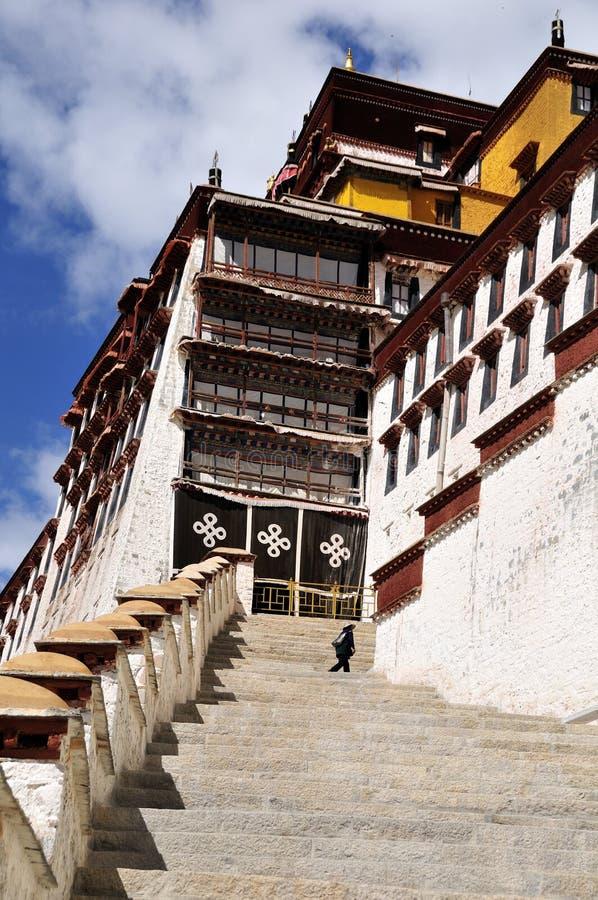 Palácio de Potala, Lhasa, Tibet fotos de stock royalty free