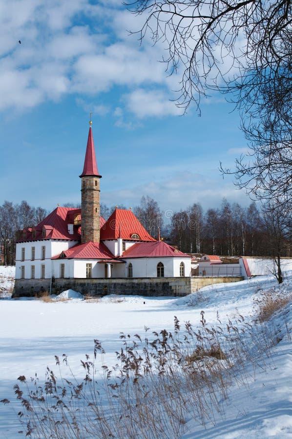 Palácio de Priorat em Gatchina fotos de stock