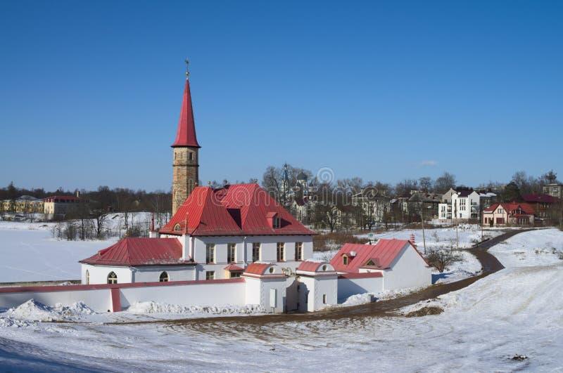 Palácio de Priorat em Gatchina fotografia de stock