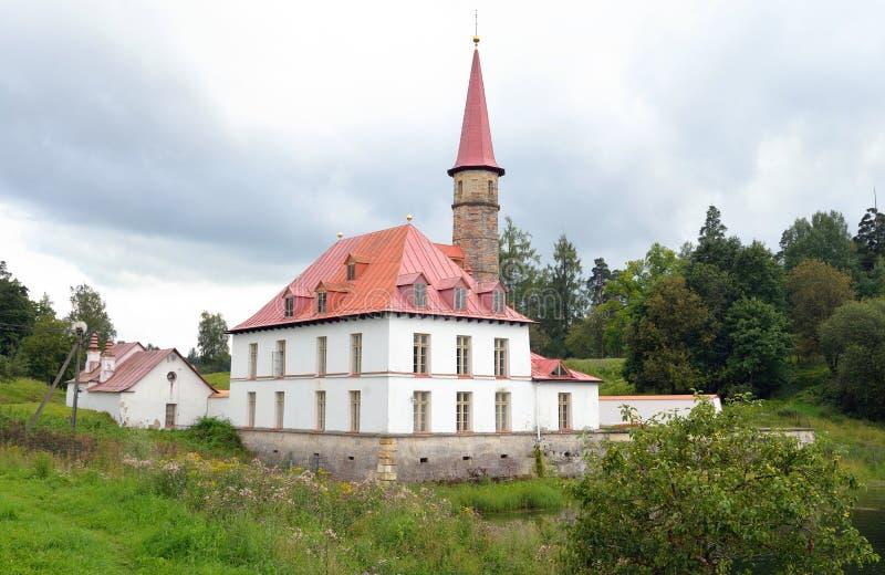 Palácio de Prioratsky em Gatchina foto de stock